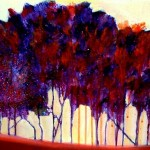 Dancing Trees - Purple - SOLD
