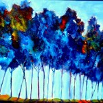 Dancing Blue Trees - SOLD