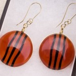 Red Earrings Black Wave1a (Medium)