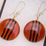 Red Earrings Black Wave1a (Medium)