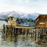 Final Rest at the Pier Watercolor