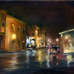 Rainy Night in Old Downtown Oil