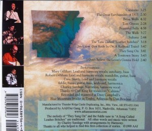 Arkansas Stories CD Back