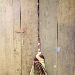 Fancy kitchen broom with a wrap and twist