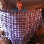 Jeanette with one of her Shawls