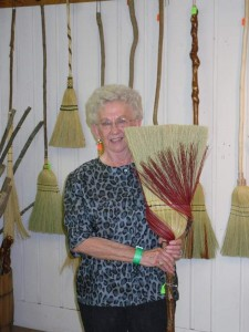 Happy customer with a new kitchen broom