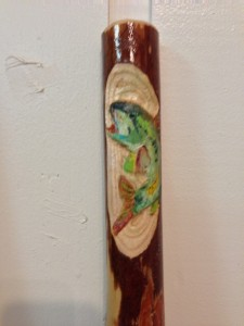 Largemouth Bass carved into handle for custom order