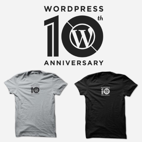 WordPress 10th Anniversary Ts
