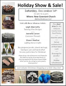 Holiday Show and Sale flyer