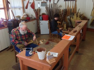 Broom Making in progress